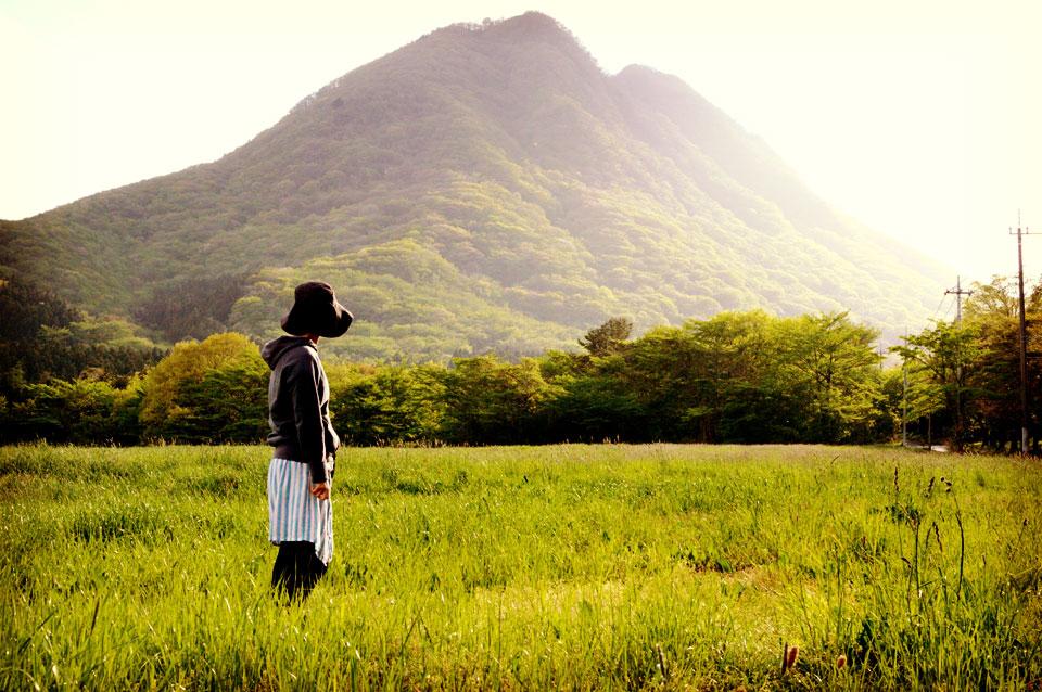 山を眺めて