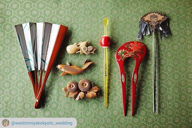 和小物、スタイリングしました。粋だね。#RepostSave @westinmiyakokyoto_wedding with @repostsaveapp ・・・ #westinmiyakokyoto・京都らしい小物達。和装姿の新婦さんをより美しく飾ってくれます。・フェア予約はプロフィールURLよりお待ちしております。 @westinmiyakokyoto_wedding・Small items of Kyoto will decorate the bride wearing kimono beautifully・・・