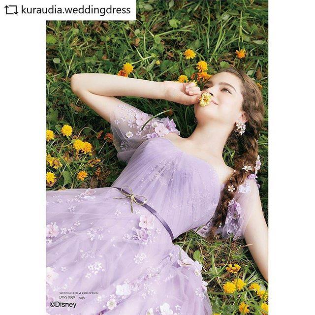 広告撮影のスタイリングしました。ラプンツェル、可愛いよー!#REPOST  @kuraudia.weddingdress with @get__repost__app ゚・*:.。..。.:+゚・*:.。..。.:+・゚゚・*:.。..。.:+・゚゚・*:.。..。.:+・゚゚.ラプンツェルの三つ編みヘアに飾られた花をイメージして、ドレス全体にちりばめられた小花が印象的なドレスです子供っぽくならない様にパープルの色合いをシックに、シルエットやドレープで大人のエレガントさを演出ラプンツェルの胸元の編み上げリボンもウエストのゴールドブローチでさりげなく表現,DWS0059(Purple)..゚・*:.。..。.:+・゚゚・*:.。..。.:+・゚゚・*:.。..。.:+・゚゚.#disney #disneyweddingdresscollection#wedding #weddingdress #dress #rapunzel#ラプンツェル #塔の上のラプンツェル#ディズニーウェディングドレスコレクション#ディズニープリンセス #disneyprincess#ウェディングドレス#ディズニードレス #結婚式 #プレ花嫁#卒花嫁 #花嫁#クラウディア #kuraudia #クラウディアドレス.ディズニーオフィシャルホテルへの持ち込みはご遠慮いただいております。..゚・*:.。..。.:+・゚゚・*:.。..。.:+・゚゚・*:.。..。.:+・゚゚ #repostw10